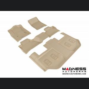 Chevrolet Suburban Floor Mats (Set of 4) - Tan by 3D MAXpider (2015-)