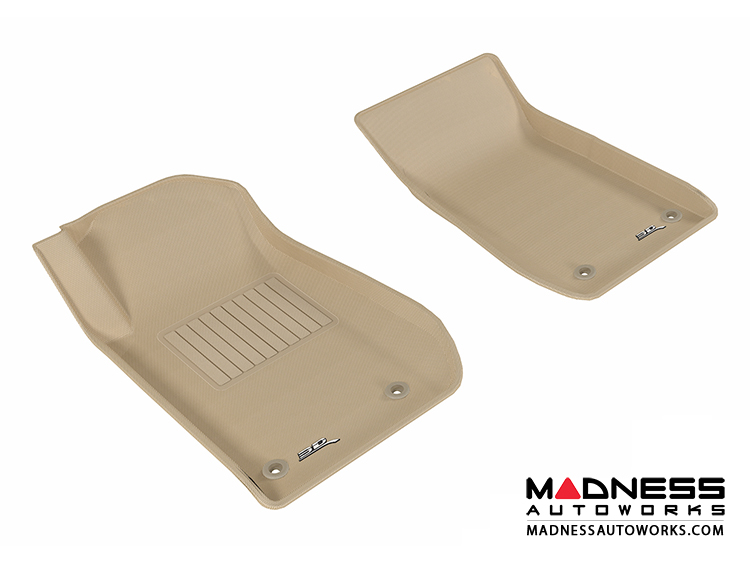 Chevrolet SS Floor Mats (Set of 2) - Front - Tan by 3D MAXpider (2013-)