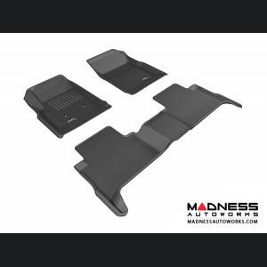 Chevrolet Colorado Crew Cab Floor Mats (Set of 3) - Black by 3D MAXpider (2015-2016)