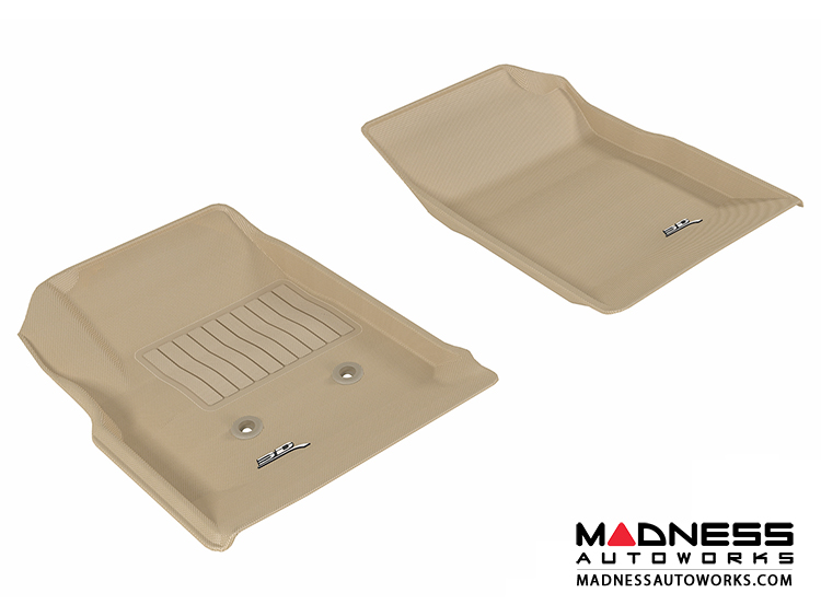 Chevrolet/ GMC Colorado/ Canyon Crew Cab Floor Mats (Set of 2) - Front - Tan by 3D MAXpider (2015-)