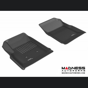 Chevrolet/ GMC Colorado/ Canyon Crew Cab Floor Mats (Set of 2) - Front - Black by 3D MAXpider (2015-)