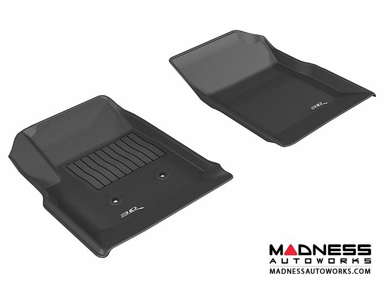 Chevrolet/ GMC Colorado/ Canyon Crew Cab Floor Mats (Set of 2) - Front - Black by 3D MAXpider (2015-)