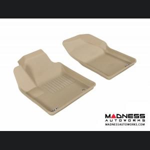 Chrysler Sebring Sedan Floor Mats (Set of 2) - Front - Tan by 3D MAXpider (2007-2010)