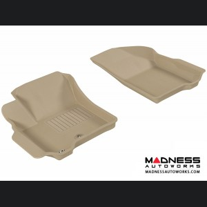 Dodge Journey Floor Mats (Set of 2) - Front - Tan by 3D MAXpider