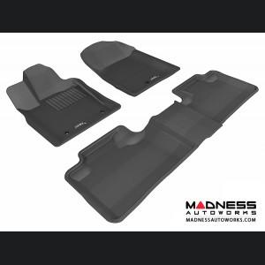 Dodge Durango Floor Mats (Set of 3) - Black by 3D MAXpider