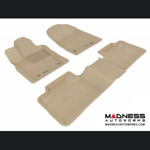 Dodge Durango Floor Mats (Set of 3) - Tan by 3D MAXpider