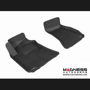 Dodge Challenger Floor Mats (Set of 2) - Front - Black by 3D MAXpider (2008-2010)