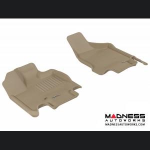 Dodge Grand Caravan Floor Mats (Set of 2) - Front - Tan by 3D MAXpider
