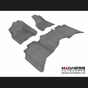Dodge RAM 1500 Crew Cab Floor Mats (Set of 3) - Gray by 3D MAXpider