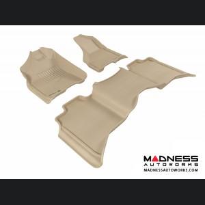 Dodge RAM 1500 Crew Cab Floor Mats (Set of 3) - Tan by 3D MAXpider