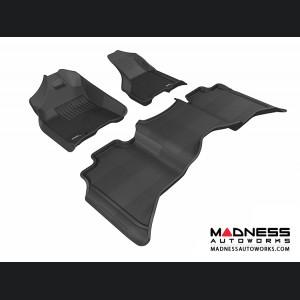 Dodge RAM 1500 Crew Cab Floor Mats (Set of 3) - Black by 3D MAXpider