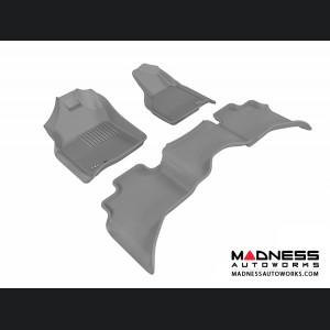 Dodge RAM 1500 Quad Cab Floor Mats (Set of 3) - Gray by 3D MAXpider