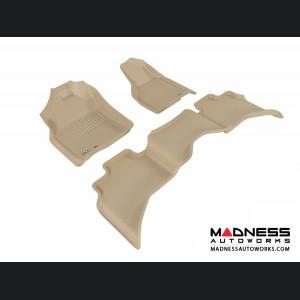 Dodge RAM 1500 Quad Cab Floor Mats (Set of 3) - Tan by 3D MAXpider