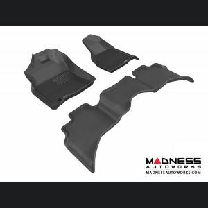 Dodge RAM 1500 Quad Cab Floor Mats (Set of 3) - Black by 3D MAXpider