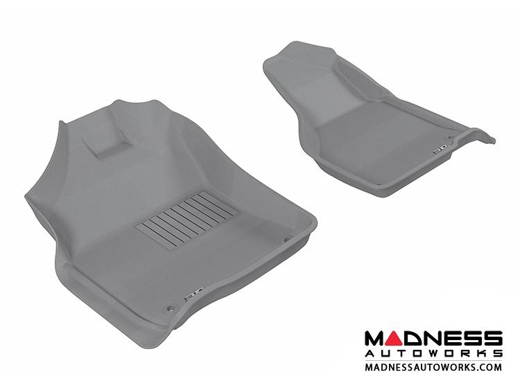 Dodge RAM 1500/ 2500/ 3500 Regular/ Quad Cab Floor Mats (Set of 2) - Front - Gray by 3D MAXpider