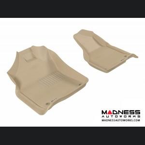 Dodge RAM 1500/ 2500/ 3500 Regular/ Quad Cab Floor Mats (Set of 2) - Front - Tan by 3D MAXpider