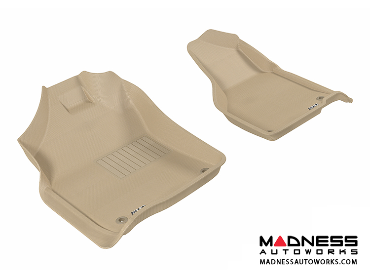Dodge RAM 1500/ 2500/ 3500 Regular/ Quad Cab Floor Mats (Set of 2) - Front - Tan by 3D MAXpider