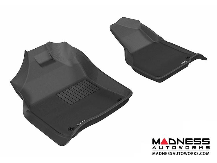 Dodge RAM 1500/ 2500/ 3500 Regular/ Quad Cab Floor Mats (Set of 2) - Front - Black by 3D MAXpider
