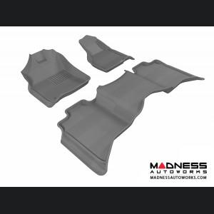 Dodge RAM 1500/ 2500/ 3500 Crew Cab Floor Mats (Set of 3) - Gray by 3D MAXpider