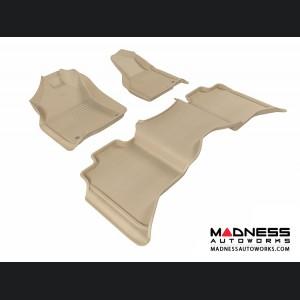 Dodge RAM 1500/ 2500/ 3500 Crew Cab Floor Mats (Set of 3) - Tan by 3D MAXpider