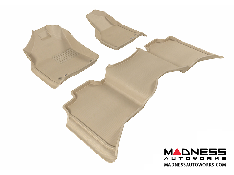 Dodge RAM 1500/ 2500/ 3500 Crew Cab Floor Mats (Set of 3) - Tan by 3D MAXpider