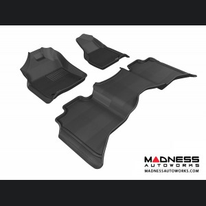 Dodge RAM 1500/ 2500/ 3500 Crew Cab Floor Mats (Set of 3) - Black by 3D MAXpider