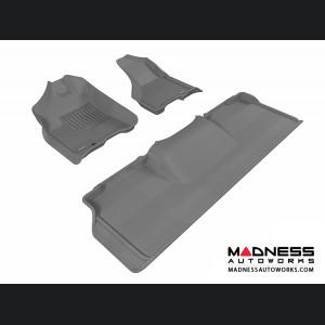 Dodge RAM 2500/ 3500 Mega Cab Floor Mats (Set of 3) - Gray by 3D MAXpider