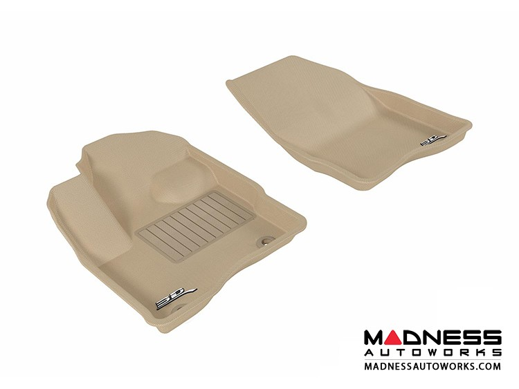 Ford Taurus Floor Mats (Set of 2) - Front - Tan by 3D MAXpider
