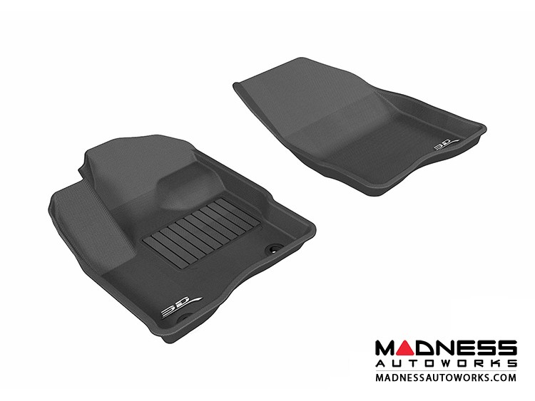 Ford Taurus Floor Mats (Set of 2) - Front - Black by 3D MAXpider