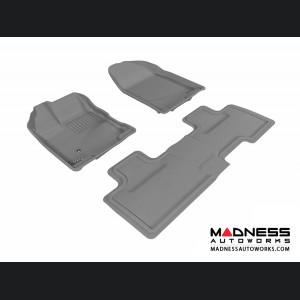 Ford Edge Floor Mats (Set of 3) - Gray by 3D MAXpider