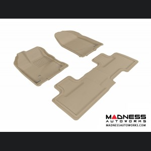Ford Edge Floor Mats (Set of 3) - Tan by 3D MAXpider
