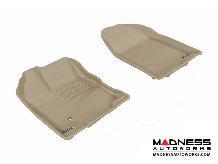 Ford Edge Floor Mats (Set of 2) - Front - Tan by 3D MAXpider