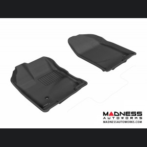 Ford Edge Floor Mats (Set of 2) - Front - Black by 3D MAXpider
