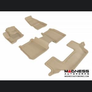 Ford Flex Floor Mats (Set of 4) - Tan by 3D MAXpider