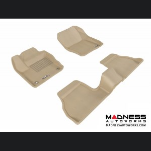 Ford Focus Floor Mats (Set of 3) - Tan by 3D MAXpider