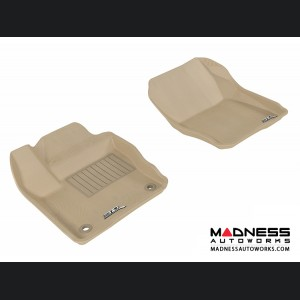 Ford Focus Floor Mats (Set of 2) - Front - Tan by 3D MAXpider