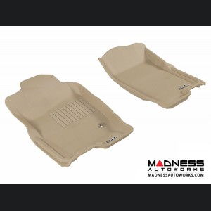 Ford Explorer Floor Mats (Set of 2) - Front - Tan by 3D MAXpider
