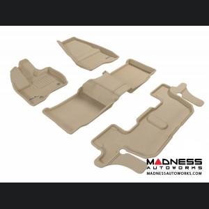 Ford Explorer Floor Mats (Set of 4) - Tan by 3D MAXpider