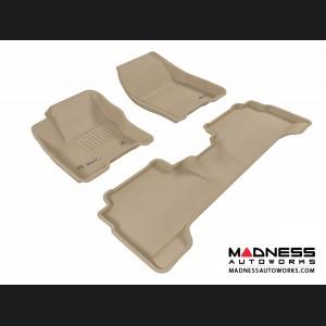 Ford C-Max Floor Mats (Set of 3) - Tan by 3D MAXpider