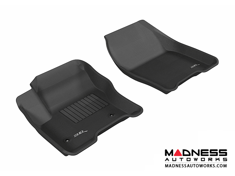 Ford Escape Floor Mats (Set of 2) - Front - Black by 3D MAXpider