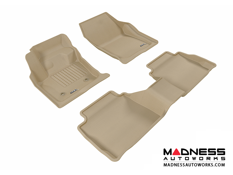 Ford Fusion Floor Mats Set Of 3 Tan By Maxpider Madness Autoworks Auto Parts And Accessories