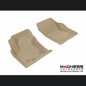 Ford Fusion Floor Mats (Set of 2) - Front - Tan by 3D MAXpider