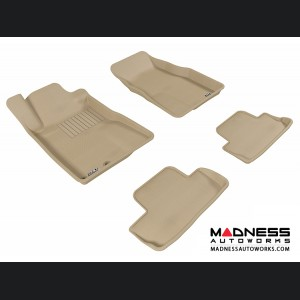 Ford Mustang Floor Mats (Set of 4) - Tan by 3D MAXpider