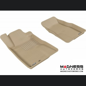 Ford Mustang Floor Mats (Set of 2) - Front - Tan by 3D MAXpider