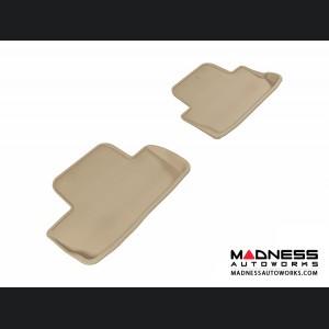 Ford Mustang Floor Mats (Set of 2) - Rear - Tan by 3D MAXpider
