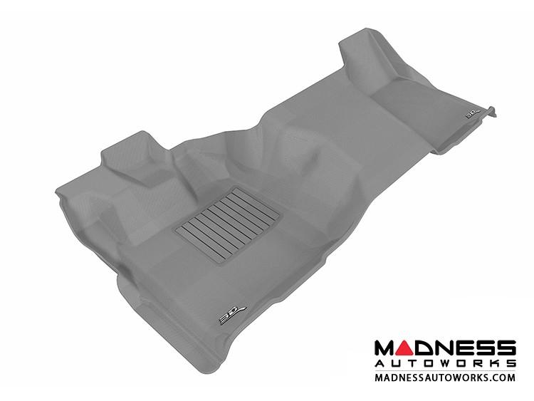 Ford F-250/ 350/ 450 Super Duty Regular Cab Floor Mat  - Rear - Gray by 3D MAXpider