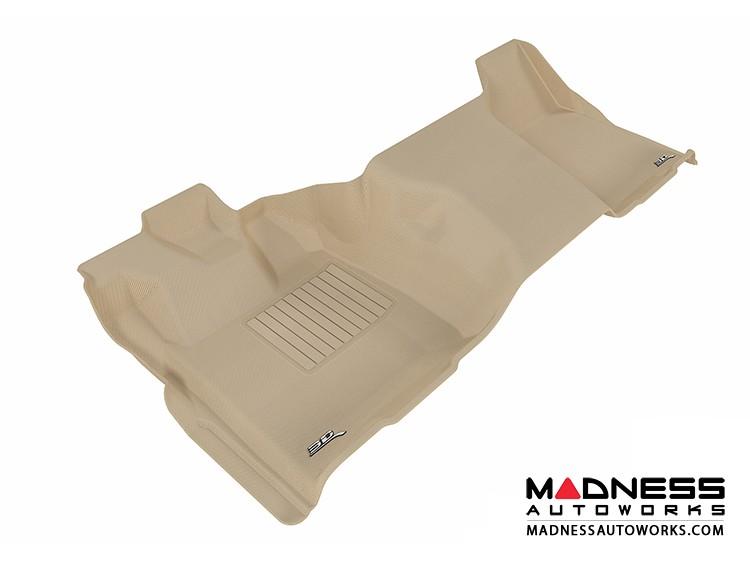 Ford F-250/ 350/ 450 Super Duty Regular Cab Floor Mat  - Rear - Tan by 3D MAXpider