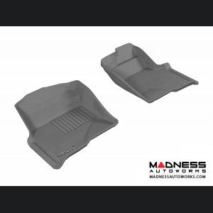 Ford F-150 Regular/ Supercab/ Supercrew Floor Mats (Set of 2) - Front - Gray by 3D MAXpider