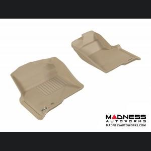 Ford F-150 Regular/ Supercab/ Supercrew Floor Mats (Set of 2) - Front - Tan by 3D MAXpider