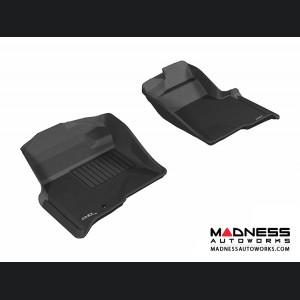 Ford F-150 Regular/ Supercab/ Supercrew Floor Mats (Set of 2) - Front - Black by 3D MAXpider